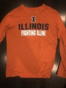 Orange Illinois Fighting Illini Basketball Long Sleeve T-Shirt Medium