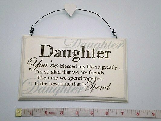 Blessed Daughter Wall Plaque Birthday Gift Ideas For Her