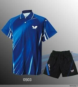 New butterfly men 39 s table tennis clothing badminton set for Table tennis shirts butterfly
