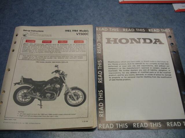83 84 Vt500c Ascot 1983 Honda Factory Oem Assembly Set Up