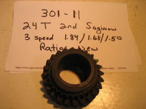 Saginaw 3 speed 2nd Gear 66-80s  New  fit ratios 2.54,2.85,311 24T  WT301-11
