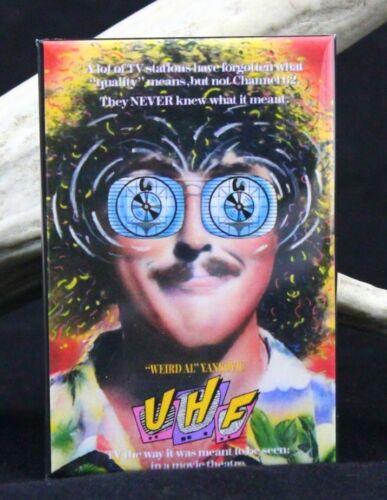 "/""Weird Al/"" Yankovic Locker Magnet UHF Movie Poster 2/"" X 3/""  Fridge"