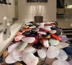 3D Piedras de Cristal 53 Impresión De Parojo Papel Pintado Mural de piso 5D AJ Wallpaper Reino Unido Limón
