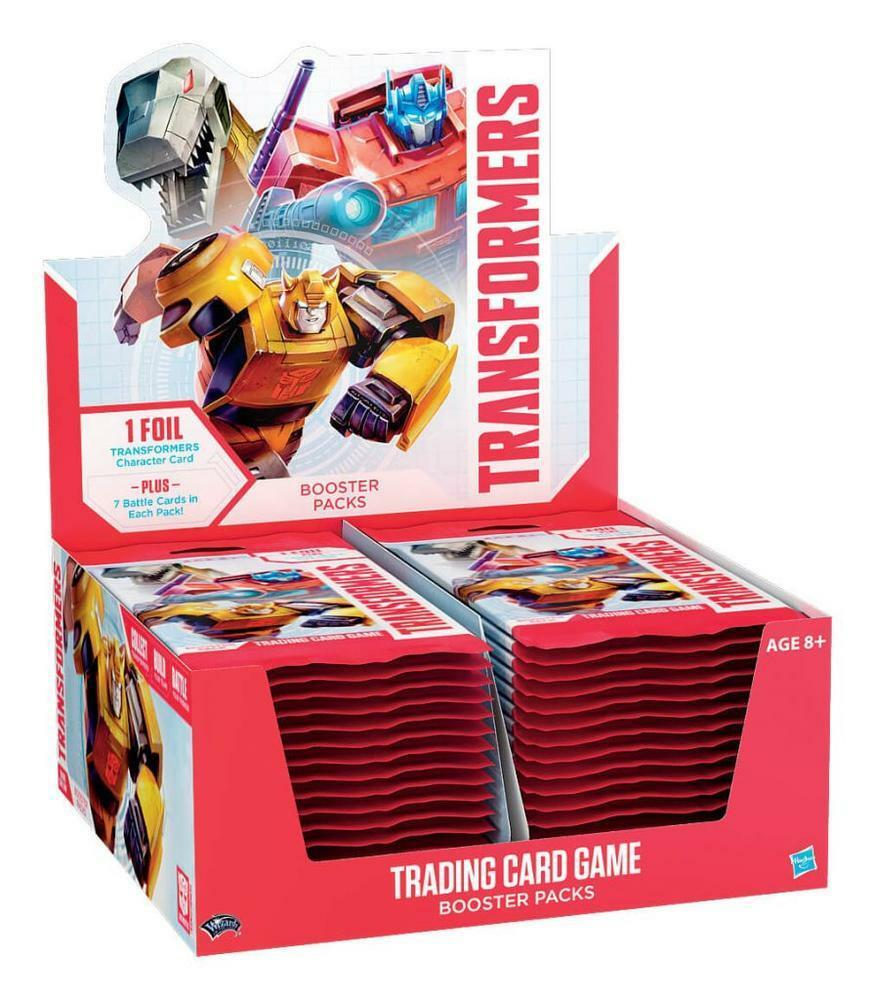 Hasbro WoTC transformers TCG Wave One Factory förseglad English 24 ct.Boosterruta @ info  whatsthis