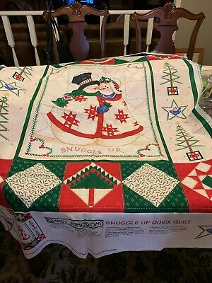 Vintage Fabric Panel Daisy Kingdom Snuggle Up Quick Quilt