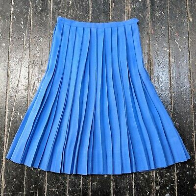 Helpful Vintage 1950s Macshore Classics Royal Blue Pleated A-line Uniform Skirt Women's Vintage Clothing