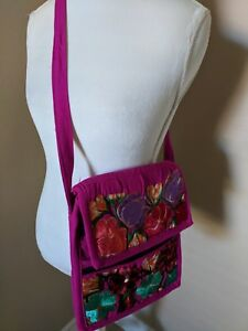 Mexican Embroidered Shoulder Bag Fl
