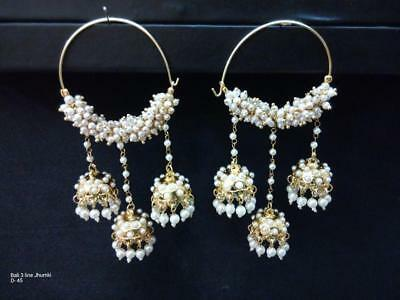 Jewelry & Watches Reliable Kundan Beads Designer Traditional Gold Tone Latest Dangle Earring Jewelry---