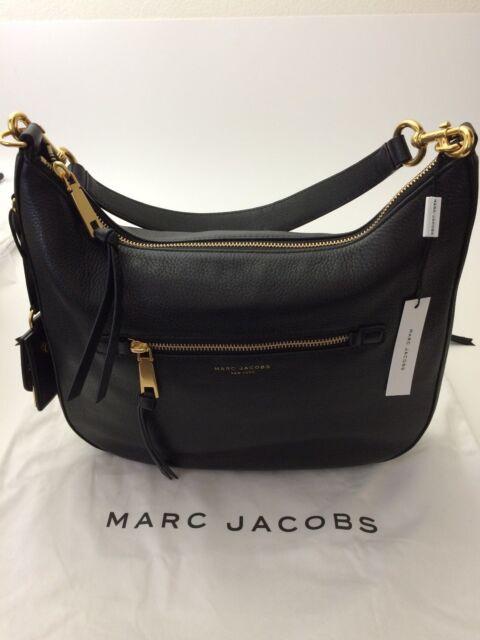 0110f848cbb5 Marc Jacobs Recruit Leather Hobo Shoulder Handbag Purse M0008895 001