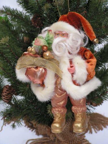 Anhänger Glocke  18 cm Posten Preis 5775 EDEL Nostalgie Weihnachtsmann stehend