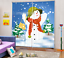 3D Snowman 750 Blockout Photo Curtain Printing Curtains Drapes Fabric Window AU