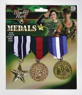 Medaglie Militari (3 Pezzi)-mostra Il Titolo Originale Prestazioni Affidabili