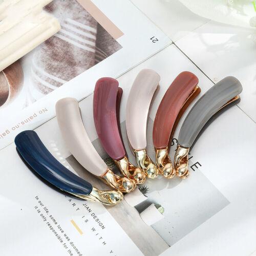 Women Banana Hair Clip Hair Clays Acrylic Hairpin Clip Ponytail Hair Accessories