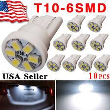 10x 6000K White T10 168 194 158 2825 6-SMD LED Bulbs For License Plate Light 12V