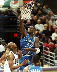 quality design 2e522 e4ccc Image is loading SHAQ-8x10-Shaquille-O-039-Neal-Penny-Hardaway-