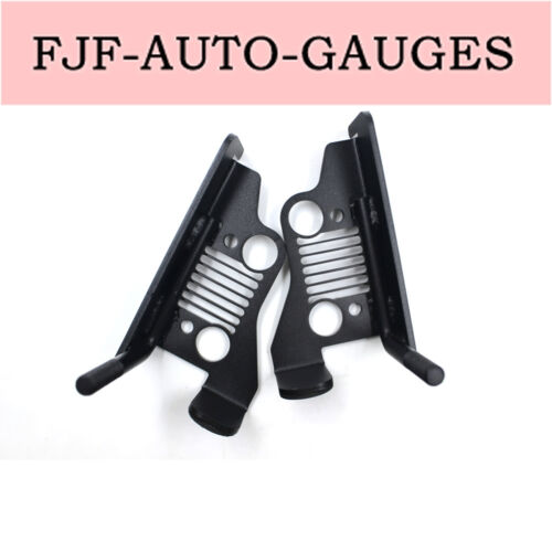 Black Coated Iron for 07-17 Jeep Wrangler Grille Style Front Foot Pegs New