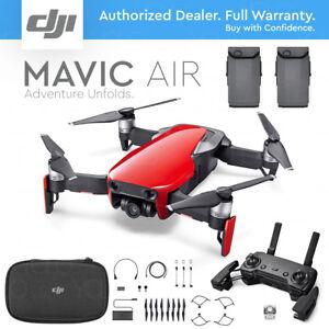 DJI-MAVIC-AIR-Foldable-amp-Portable-Drone-Camera-FLAME-RED-EXTRA-BATTERY