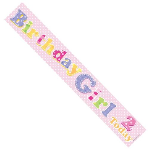 2nd Birthday Girl Pink Banner BA1014