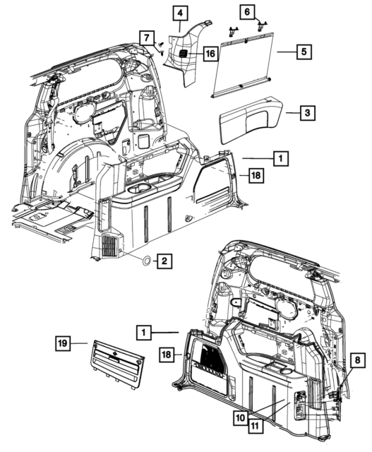 New Genuine Mopar 05015298aa Quarter Panel Molding For Wiring Diagram