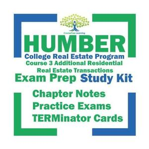 Humber Real Estate Additional Residential Transactions Course 3 Textbooks Kit Ontario Preview