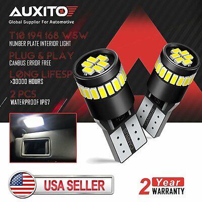 2X ERROR FREE White 24SMD LED For Ford License Interior Light Bulb 194 168 2825