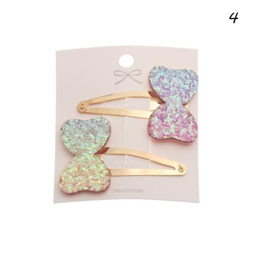 Kids Accessories Sequin Star Glitter  BB Hairpins Rainbow Hair Clips  Barrettes