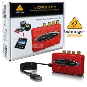 behringer u control uca222 digital audio interface s pdif output 736211578945 ebay. Black Bedroom Furniture Sets. Home Design Ideas