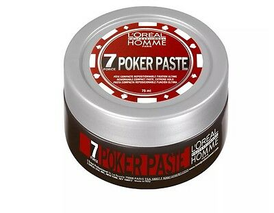 L'Oreal Professionnel Homme POKER PASTE Matte Finish Extreme Hold - 75ml