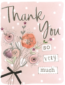 Thank You So Very Much Gigantic Greeting Card Embellished A4 Sized Cards