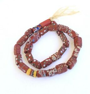 Antique old Venetian variety Wound African Glass Trade beads