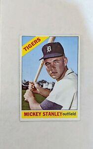 1966-Topps-Mickey-Stanley-198-Baseball-Card-Detroit-Tigers-HOF