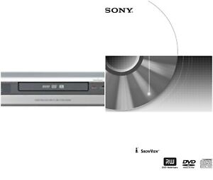 sony rdr hx510 dvd recorder instruction manual on cd or direct ebay rh ebay co uk sony dvd recorder rdr-gx350 instruction manual sony dvd recorder rdr-hx780 user manual