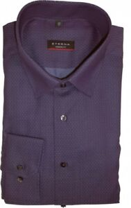 98 Berry Modern X18p Patterned Eterna Extra Fit lunga manica 4149 Shirt Cm 72 xqYnx51t