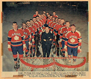 Image is loading 1964-Canadian-Olympic-Hockey-Team-Photo-From-London-