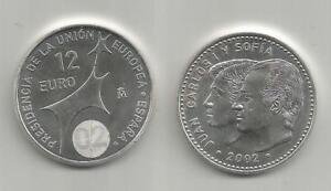 Spagna, 2002, Presidenza Dell'unione Europea. Juan Carlos Y Sofia. Ag. Fs. ProcéDéS De Teinture Minutieux