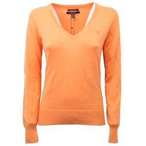 C4590-maglione-donna-GANT-arancione-cotone-sweater-woman