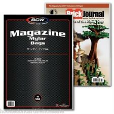 "1 case (250) BCW 9 x 11 1/2"" Mylar Magazine Storage Bags Holder Sleeve 4 mil"
