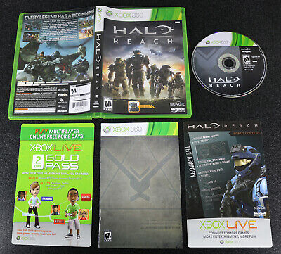 Xbox 360 HALO: Reach Complete Disc Case Manual + Game ... Xbox 360 Game Covers Download