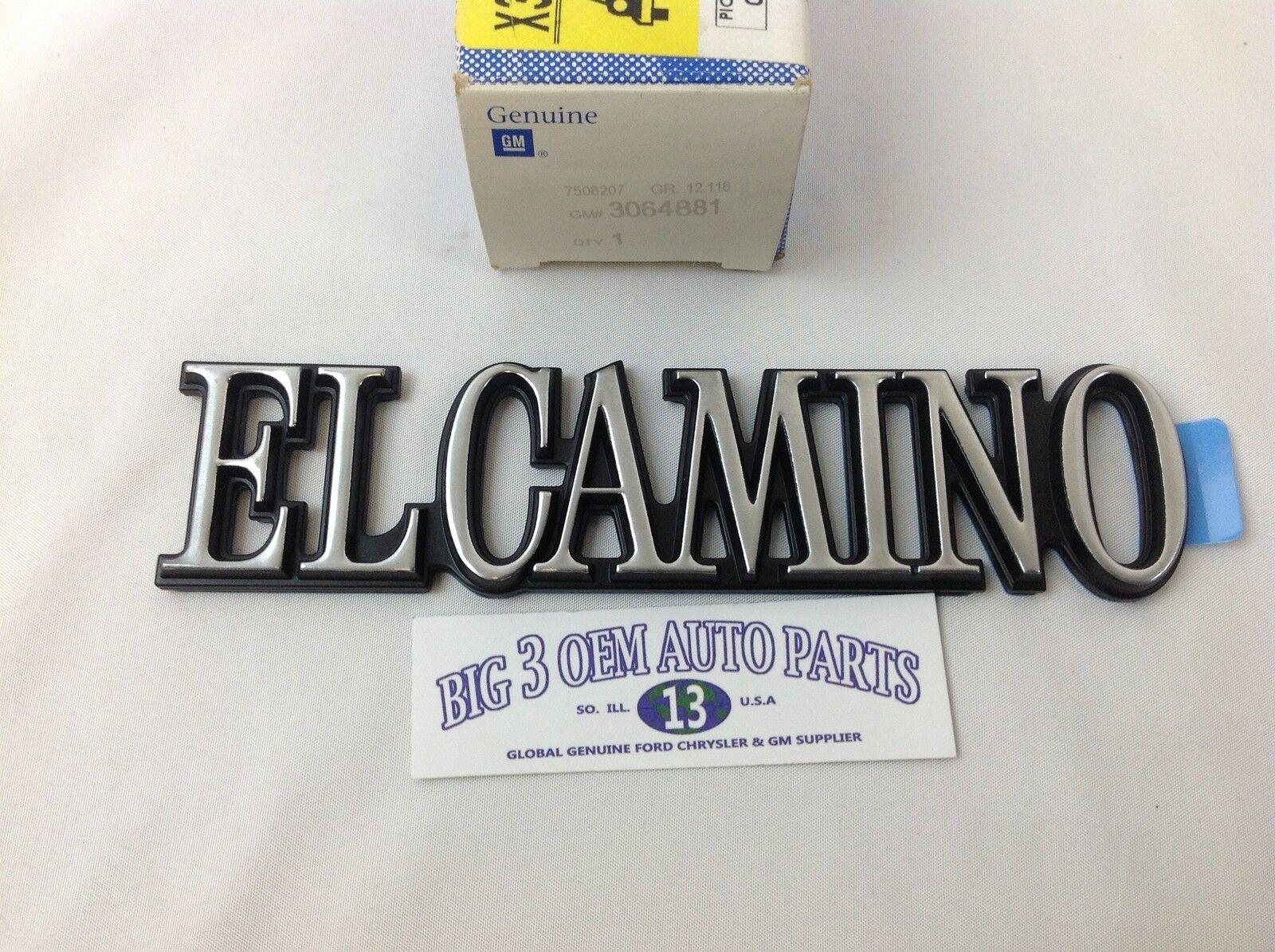 1978-1987 Chevrolet El Camino hinter Quarter Panel El Camino Emblem Neu Oem