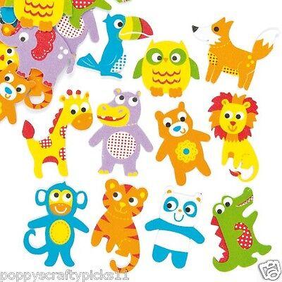 20 FOAM BABY ANIMALS STICKER CHILDREN CARD MAKING SCRAPBOOKING EMBELLISHMENTS