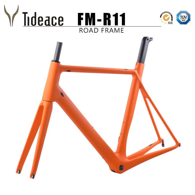 700C Carbon Fiber Cycling Bike Frame BSA OEM Bicycle Frames with Fork Seatpost