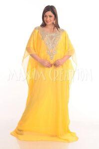 MODERN JALABIYA JILBAB ABAYA FANCY WEDDING GOWN ARABIAN DRESS 4802