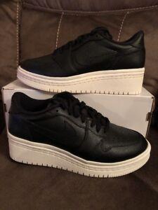 96329d206d36 Women s Air Jordan 1 Re Low Lifted Black Shoes -Size 5 AO1334 014 ...