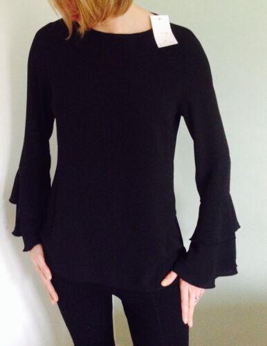 Ladies Womens  Bell  Sleeve Top Blouse Tunic  8-18 John Zack