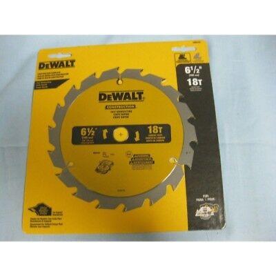 """DEWALT DW9155 6-1//2/"""" x 18 Tooth Fast Cutting Carbide Saw Blade"""