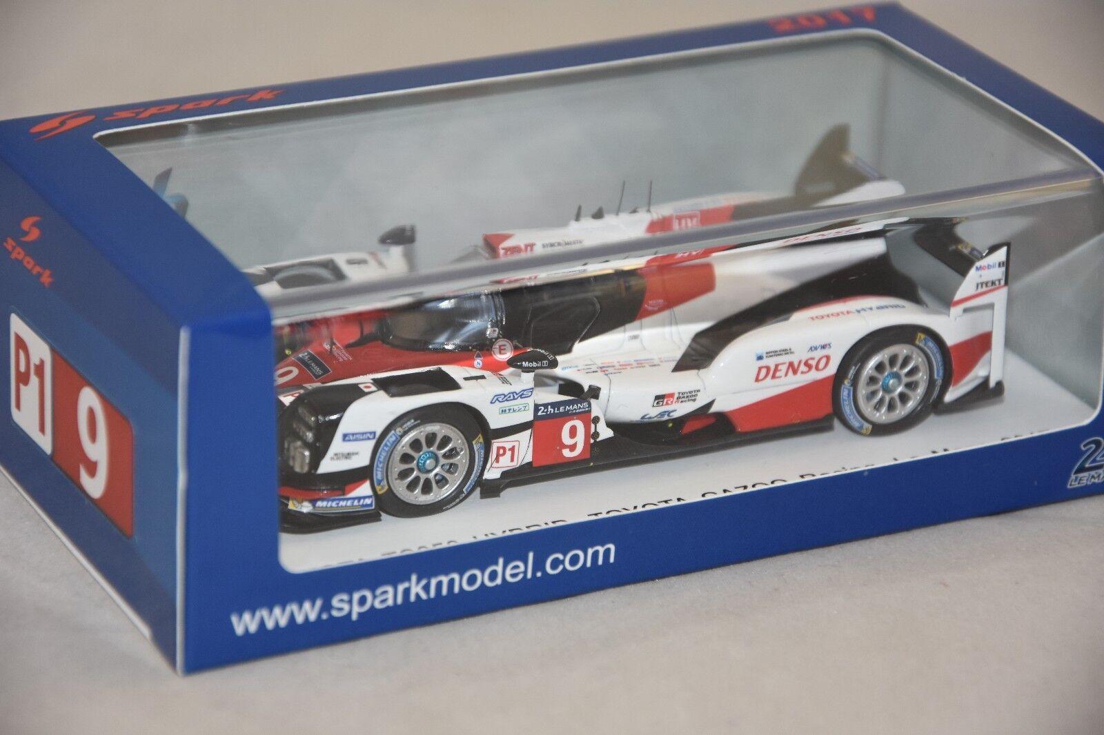 Spark S5805 - TOYOTA TS050 Hybrid N°9 Toyota Gazoo Racing 24H Le Mans 2017 1 43
