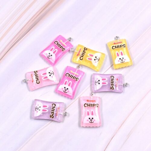 10X Mixed Color Rabbit Sweet Candy Resin Charm Pendant For DIY Earrings//Bracelet