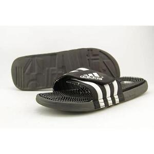 acb1958f1476ee adidas Adissage Men s Slides - Size 13 - Black White for sale online ...
