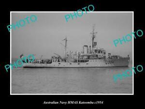 OLD-POSTCARD-SIZE-AUSTRALIAN-NAVY-PHOTO-OF-THE-HMAS-KATOOMBA-SHIP-c1954