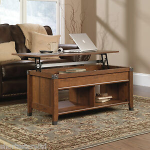 lift top convertible coffee table ottoman milled cherry wood desk